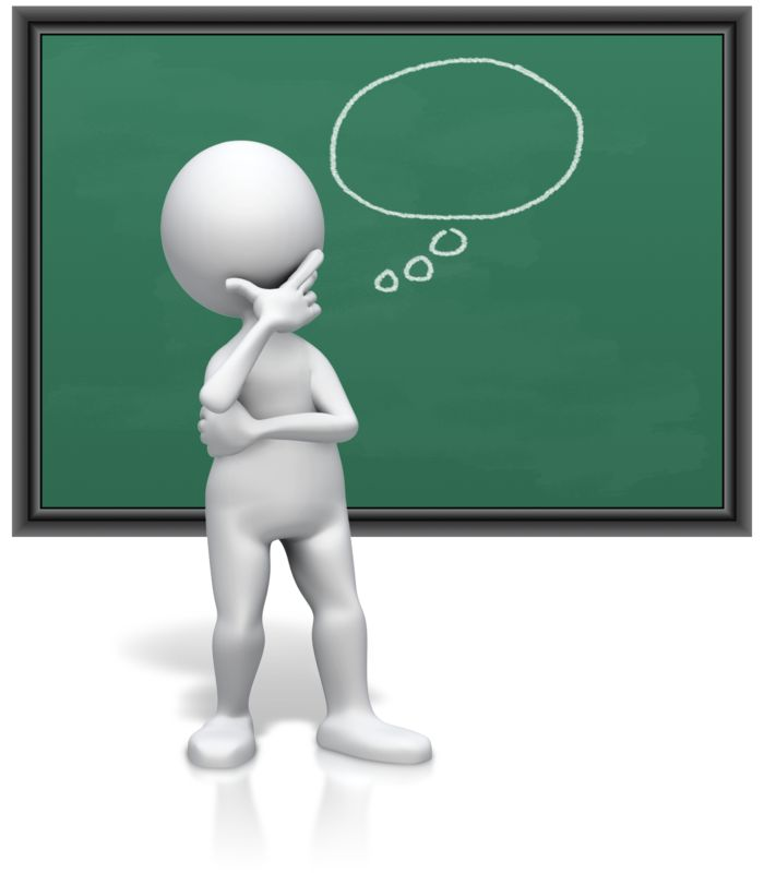 Clipart - Thinking Of Something In Empty Bubble