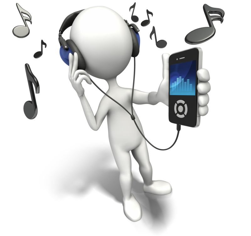 Clipart - Listening To Music Player