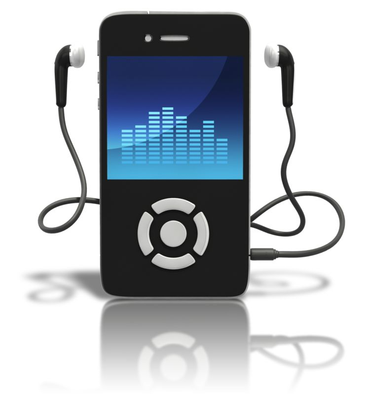 Clipart - Music Player Standing Upright