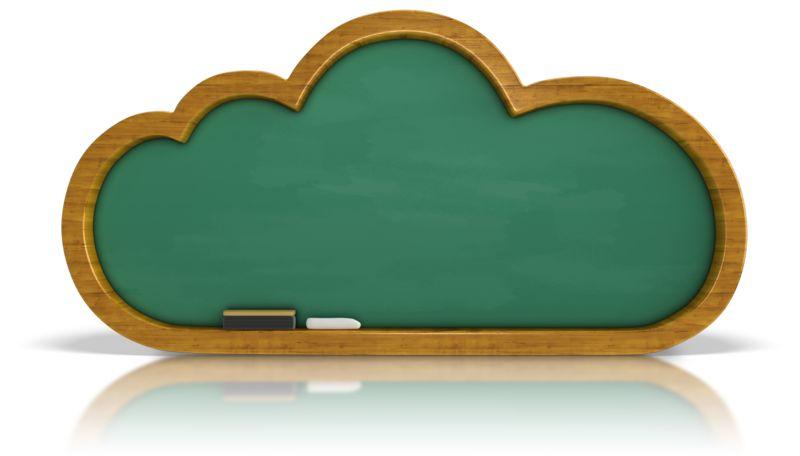 Clipart - Chalkboard Cloud