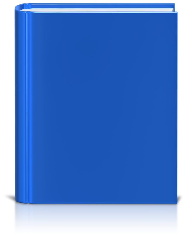 Clipart - Front Facing Book Colored