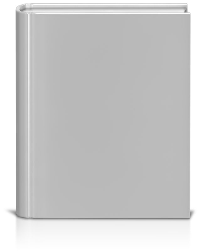 Clipart - Front Facing Book White