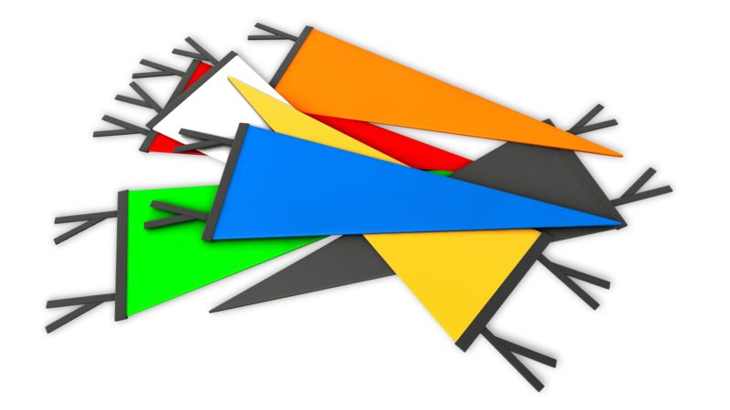 Clipart - Pile Sports Pennant