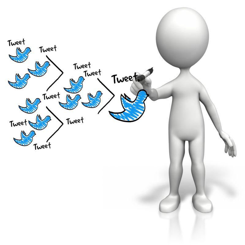 Clipart - Figure Drawing Tweet Diagram