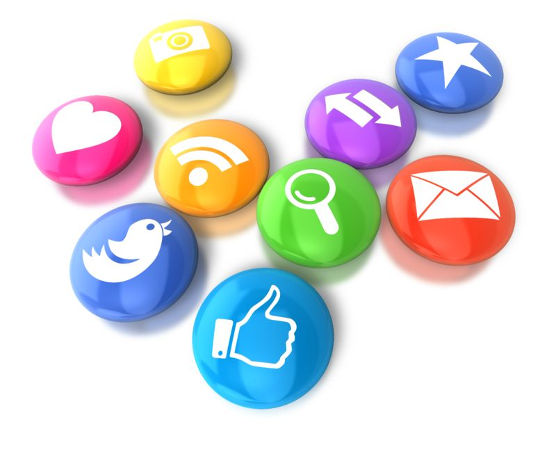 Clipart - Circular Social Media Icons