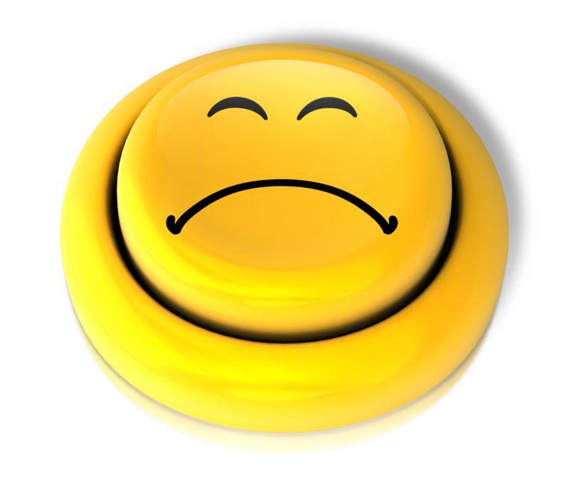 Clipart - Smiley Face Sad Button