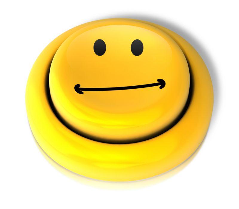 Clipart - Smiley Face Neutral Button