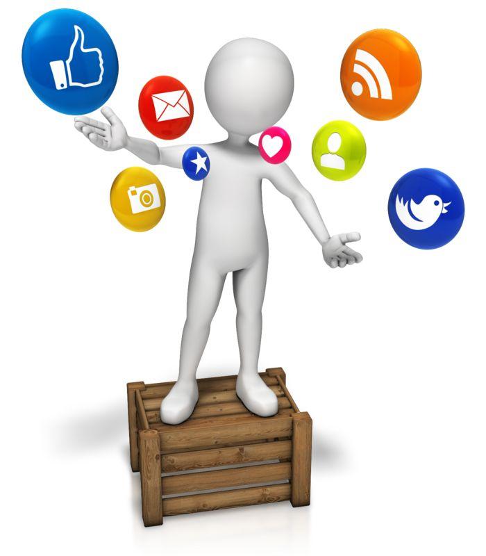 Clipart - Talking Social Media
