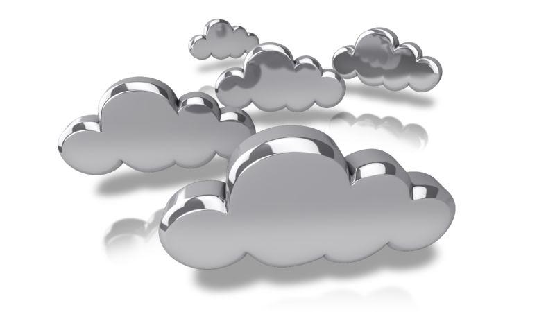 Clipart - Silver Tech Clouds
