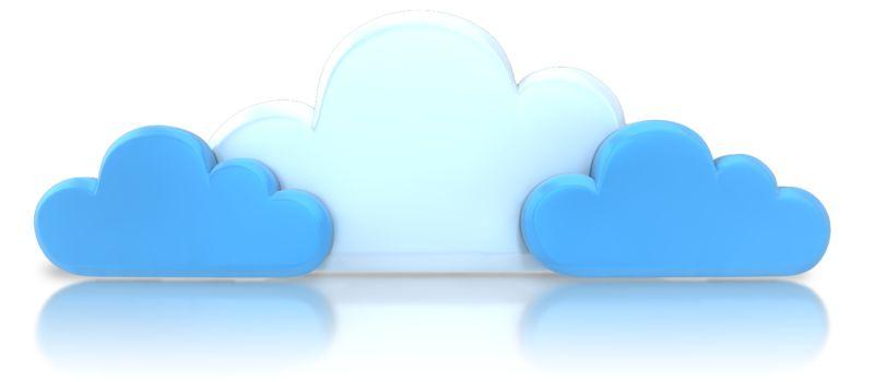 Clipart - Group Blue Cloud