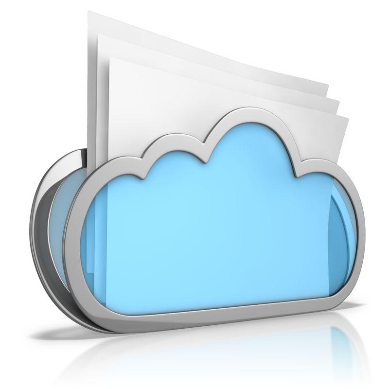 Clipart - Cloud Folder