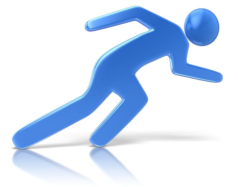 Clipart - Sprinting Character Pose