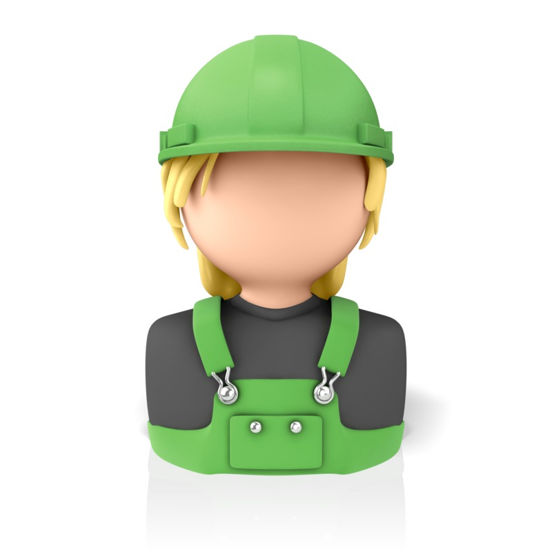 Clipart - Woman Construction Icon