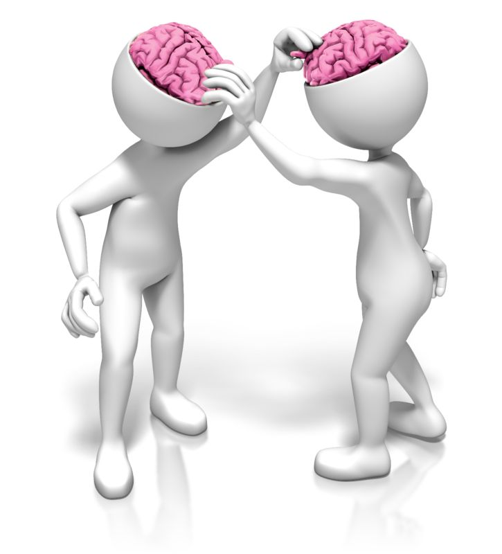 Clipart - Picking Each Others Brains