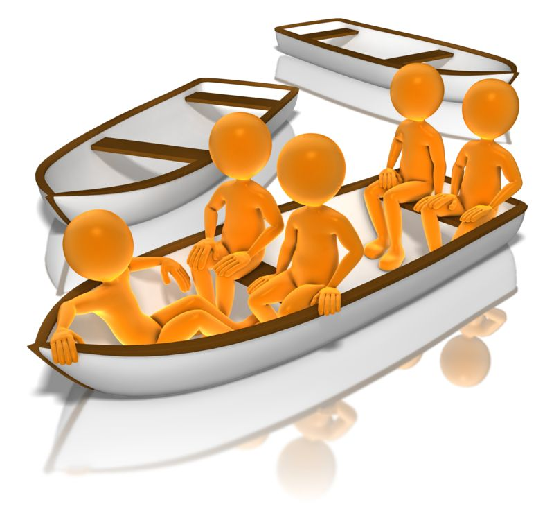 Clipart - All In The Same Boat