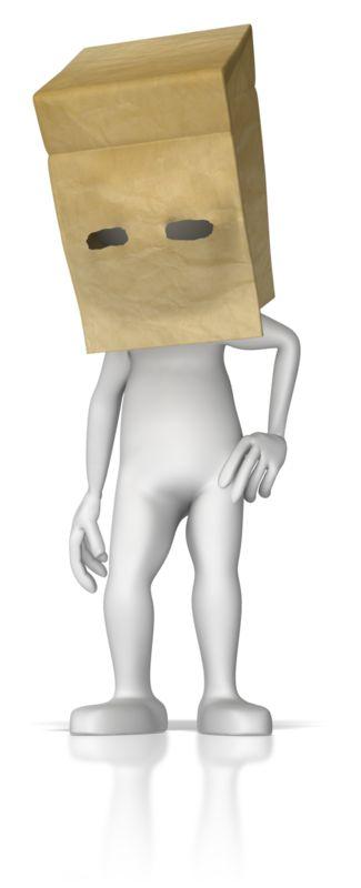 Clipart - Paper Bag Over Head