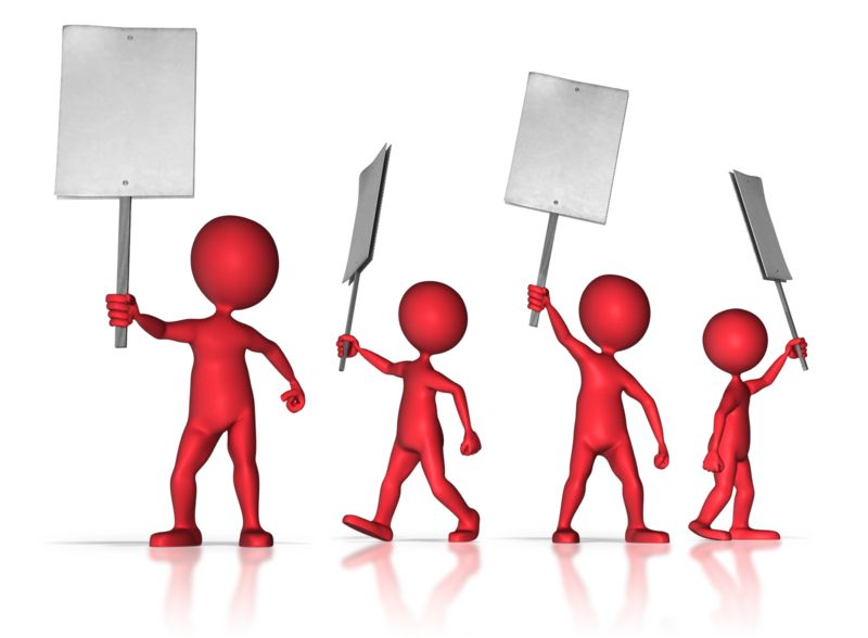 Clipart - Group of Protesters