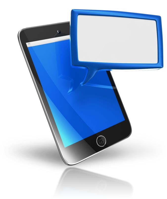 Clipart - Smart Phone Texting Box