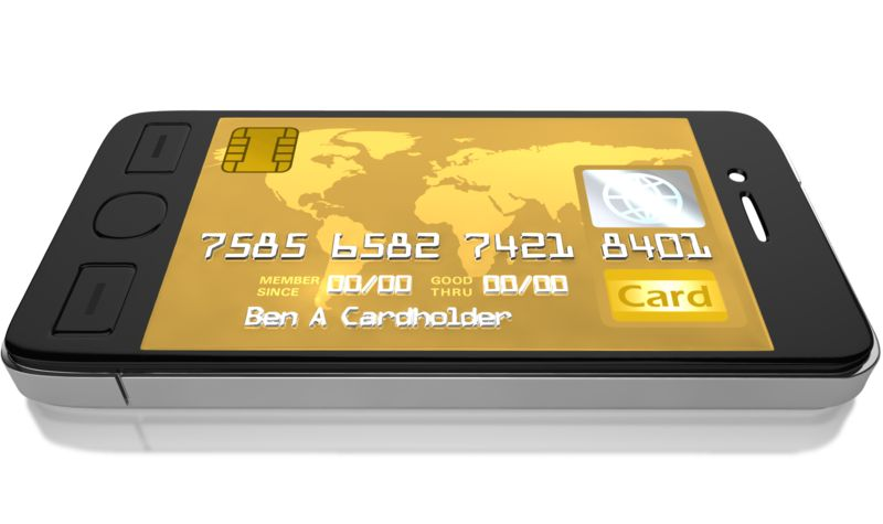 Clipart - Mobile Credit Card