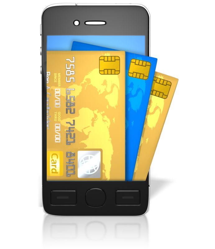 Clipart - Credit Cards Coming Out Of Screen