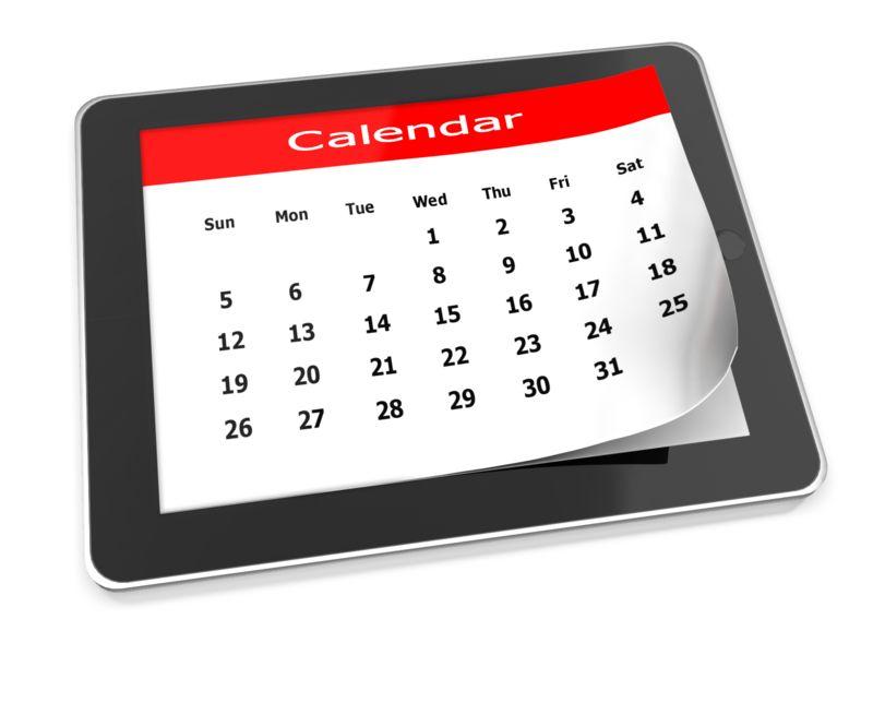 Clipart - Tablet Calendar
