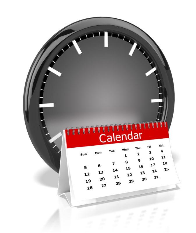 Clipart - Clock And Calendar