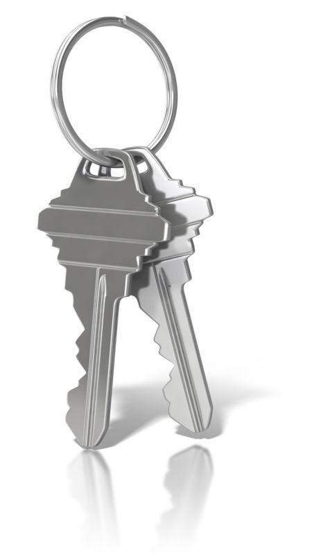 Clipart - House Keys On Ring