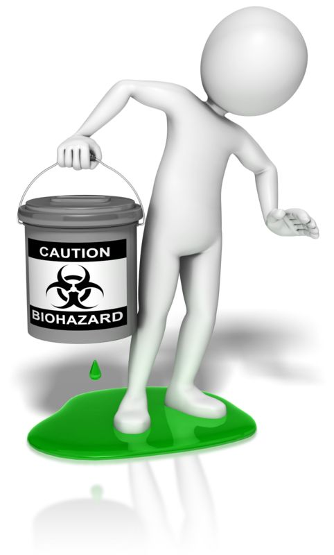 Clipart - Stick Figure Biohazard Leak