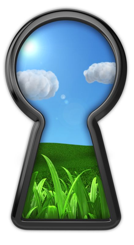 Clipart - Keyhole To Serenity