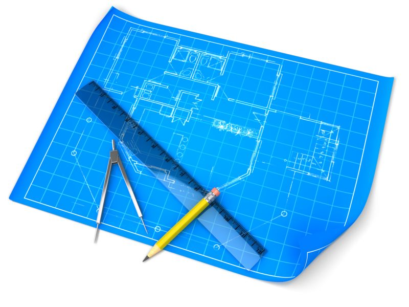 Clipart - Blueprint Draft Set