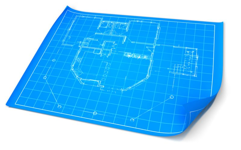 Clipart - Opened Blueprint