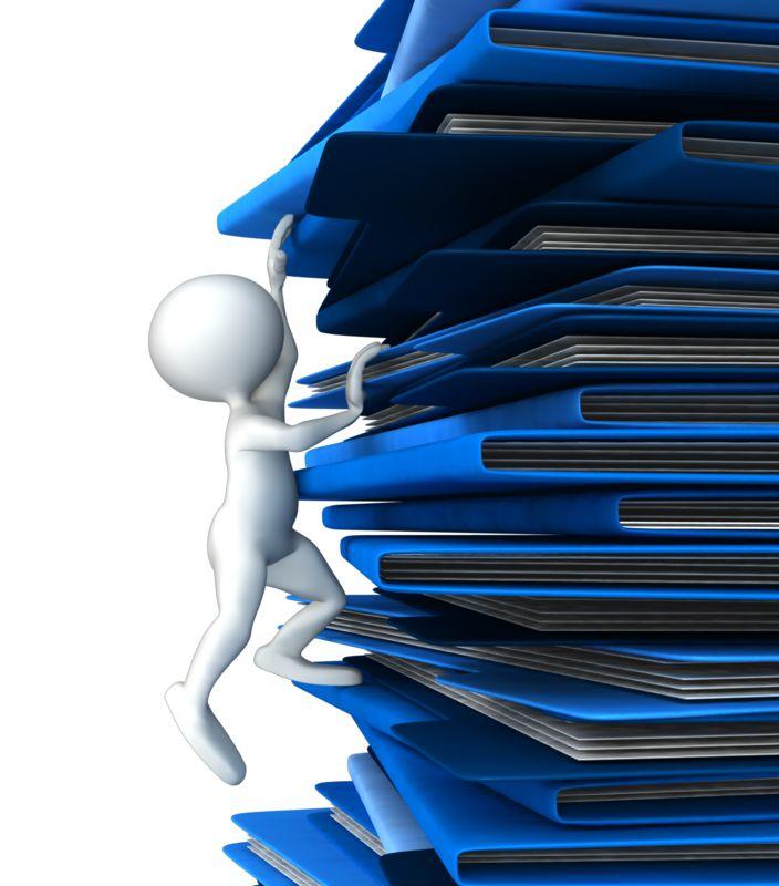 Clipart - Climbing Up Folders