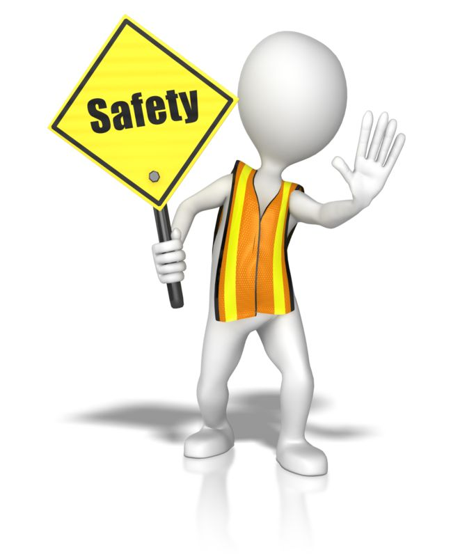 Clipart - Stick Figure In A Safety Vest Holding A