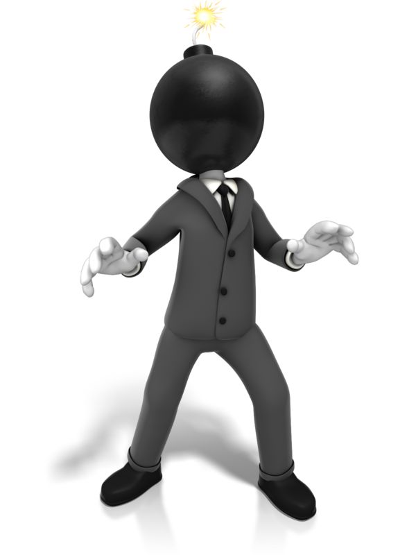Clipart - Business Time Bomb
