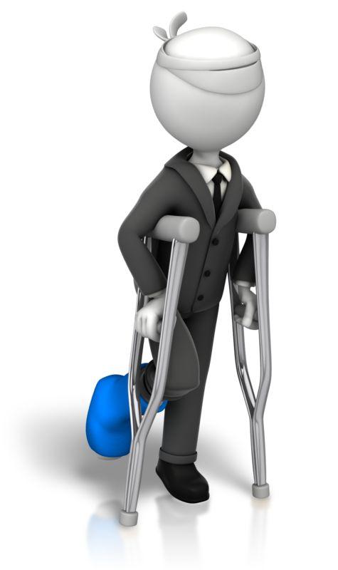 Clipart - Stick Figure Injured Business
