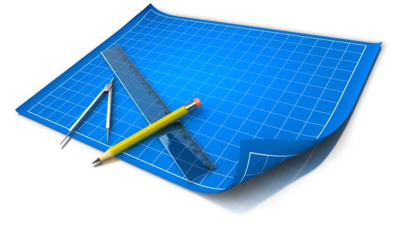Clipart - Blue Print Grid Tools