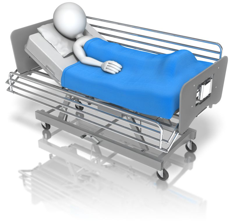 Clipart - Stick Figure Hospital Bed