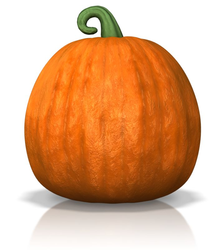 Clipart - A Single Pumpkin