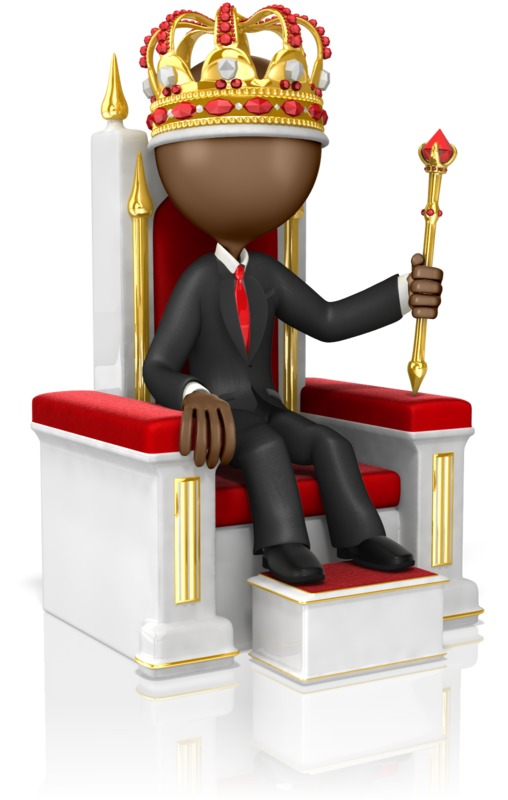 Clipart - Business Figure On High Throne