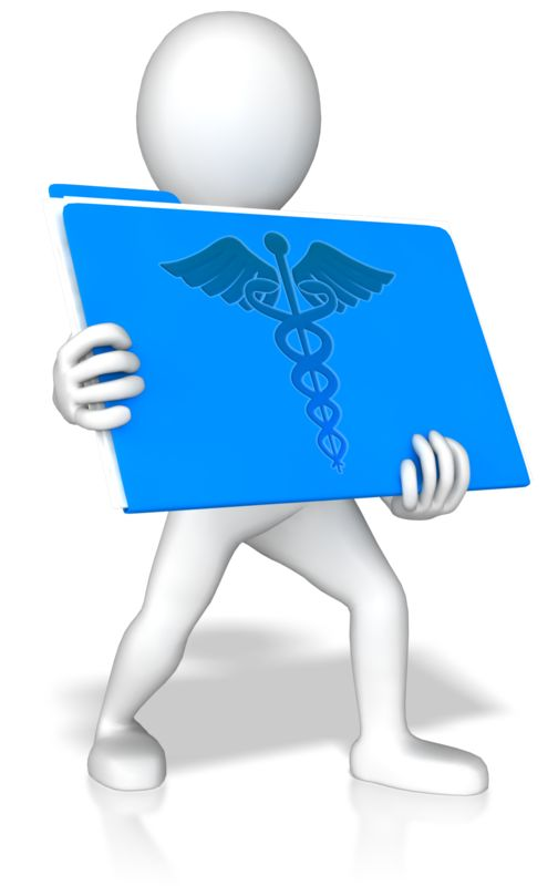 Clipart - Stick Figure Holding Medical Record