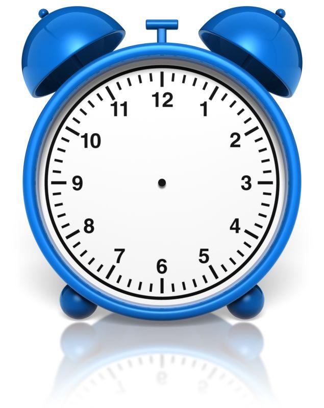 Clipart - Alarm Clock No Hands