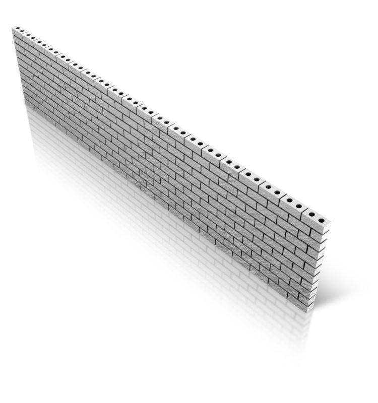 Clipart - Diagonal Brick Wall