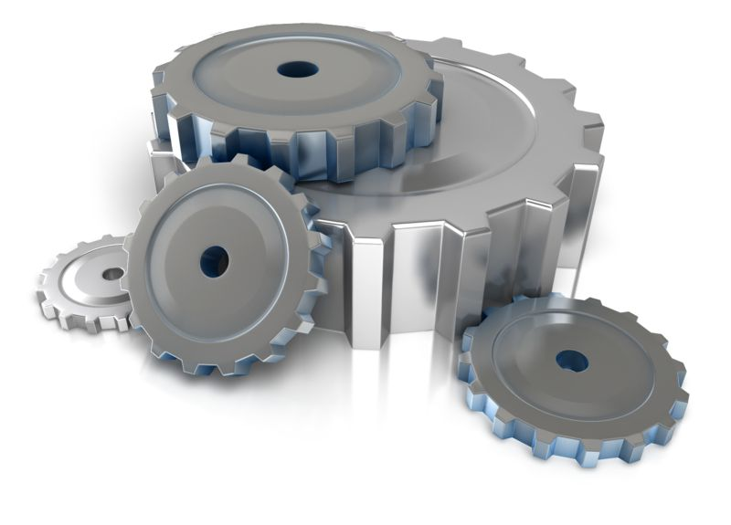 Clipart - Industrial Gears On Floor