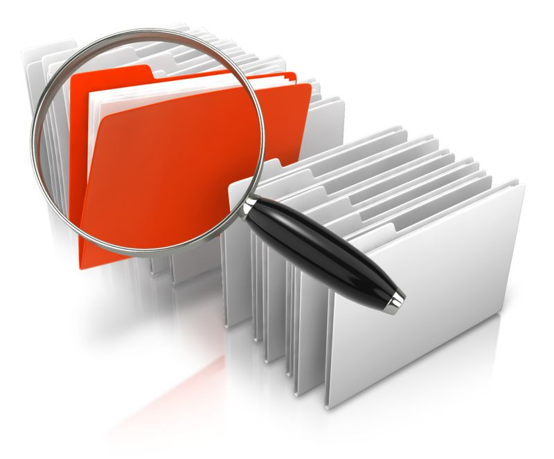 Clipart - Stand Out Magnify File