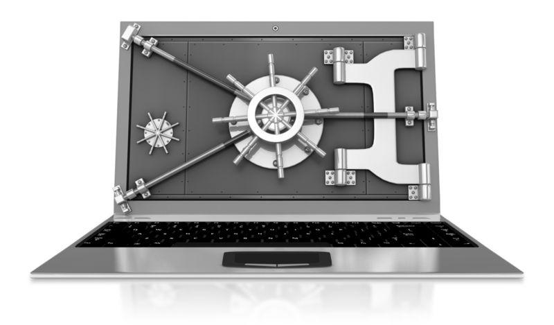 Clipart - Vault Secured Laptop