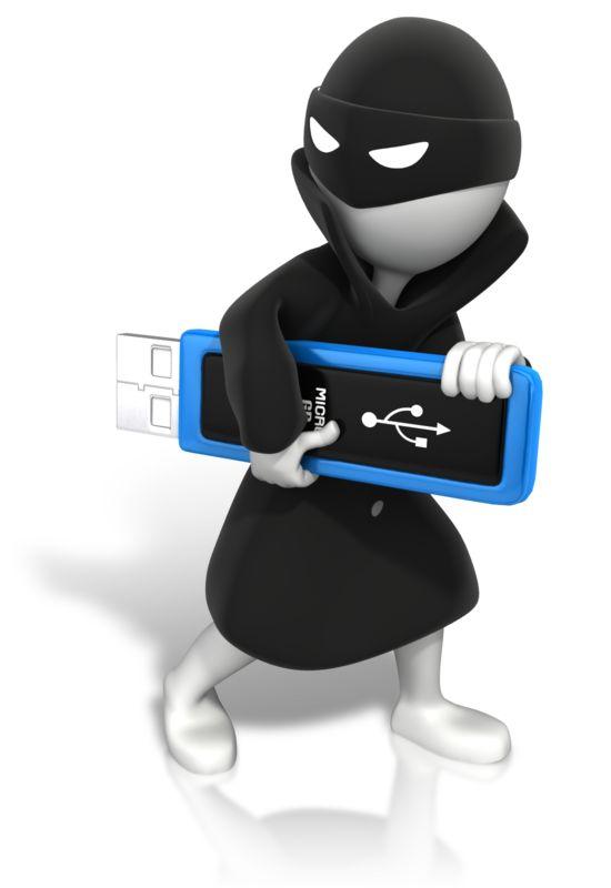 Clipart - Thief Stealing Data