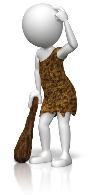 Clipart - Caveman Figure Thinking