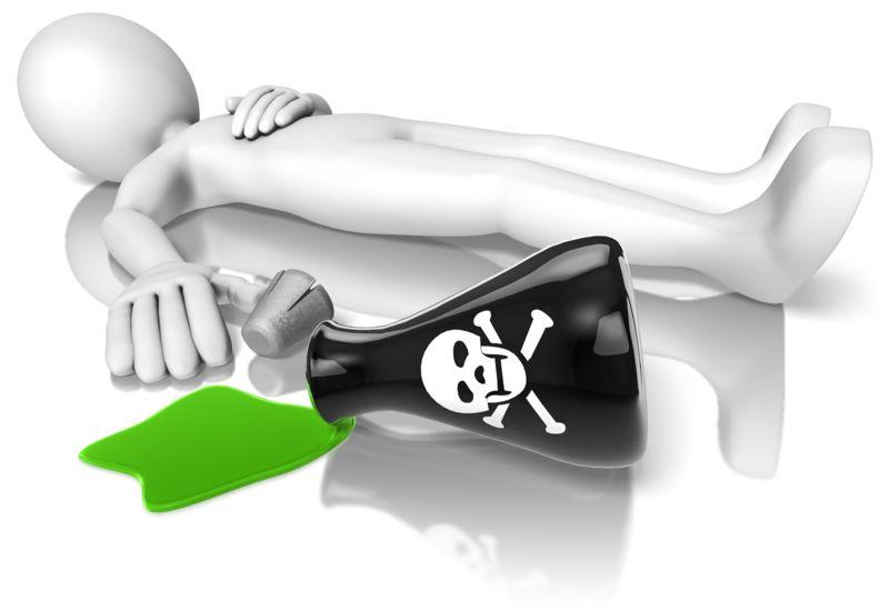 Clipart - Stick Figure Poison