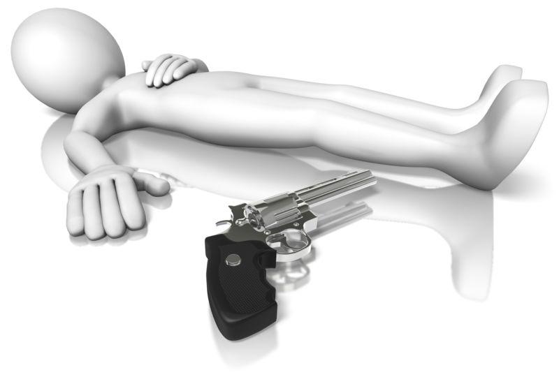Clipart - Stick Figure Gun