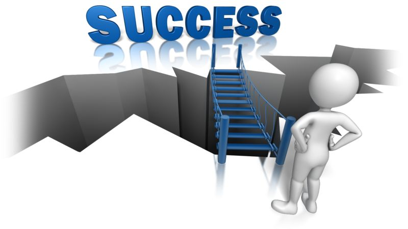 Clipart - Success On The Other Side